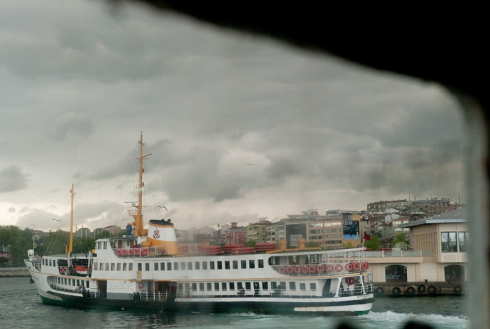 Ferry in the harbour of Kadikoy on the Asian side of Istanbul